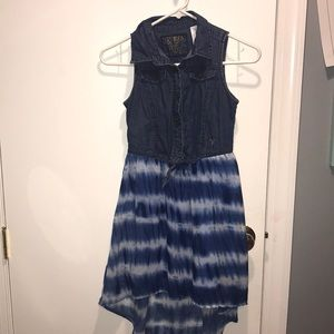 Guess Denim High Low Dress